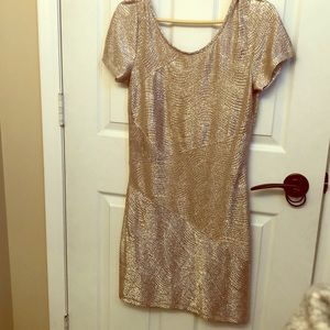 Free People glam gold dress